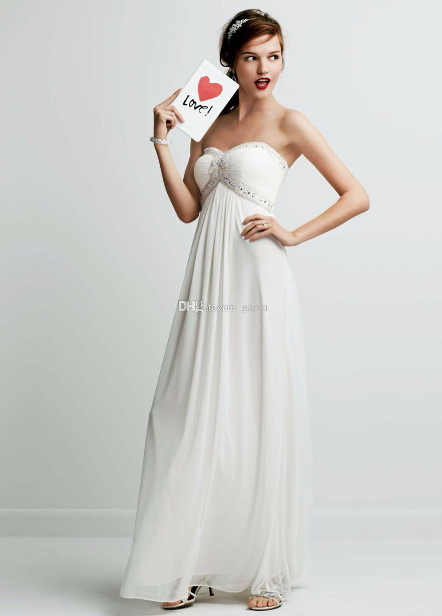Wedding - Ultra-chic Strapless Bodice with Sweetheat Neckline Features Beaded Ruched Detail on Bust Summer Chiffon Beach Wedding Dress Online with $104.72/Piece on Gama's Store