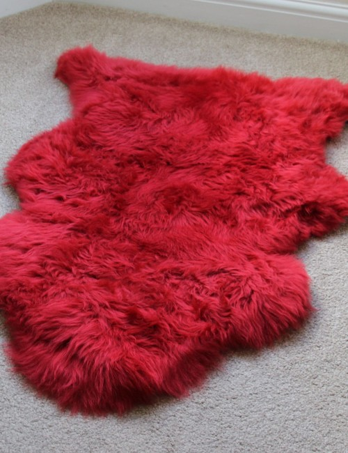 Mariage - RED SHEEPSKIN RUG SINGLE PELT