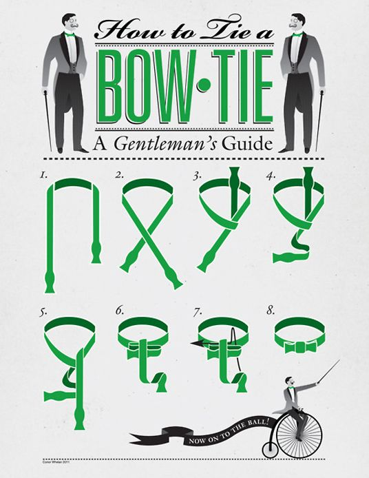 Свадьба - Well-Groomed Tutorial: How To Tie A Bow Tie ~ Well-Groomed