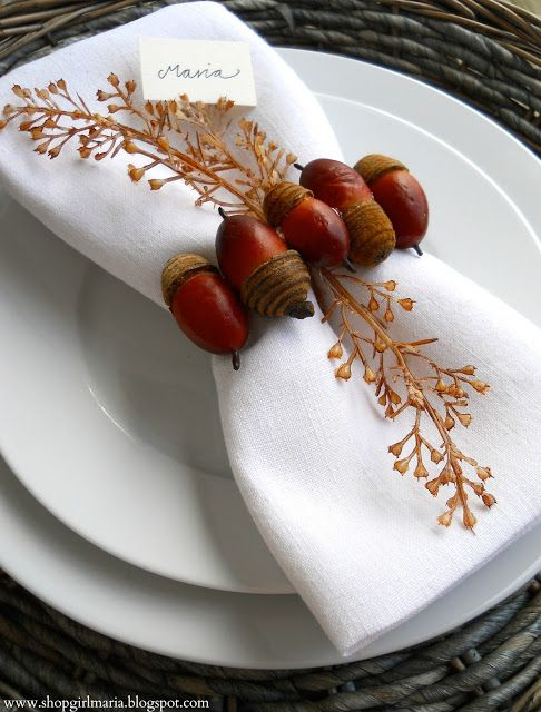 Hochzeit - 20 Thanksgiving Place Settings Ideas -