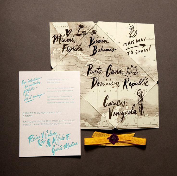 Hochzeit - Ladyfingers Letterpress Invites
