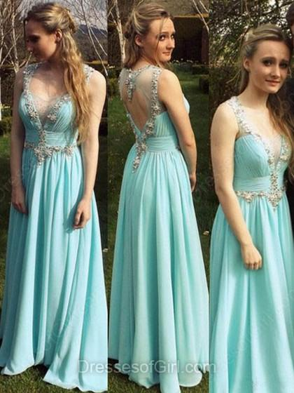 Wedding - A-line Sweetheart Chiffon Tulle Floor-length Beading Prom Dresses