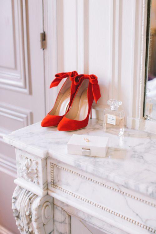 Hochzeit - Red Bow Heels