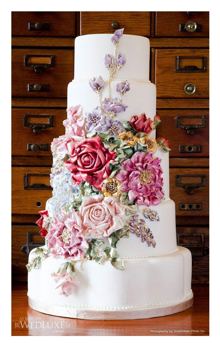 The Best Sugar Flower Wedding Cakes Exquisite Fl Additions