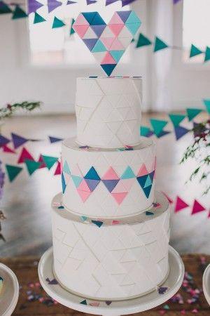 Wedding - Geometric Wedding Inspiration From Sarah Park Events