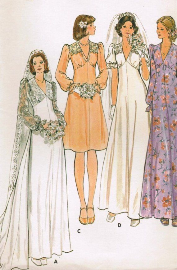 1960s Butterick 4036 Uncut Vintage Sewing Pattern Misses Bridal
