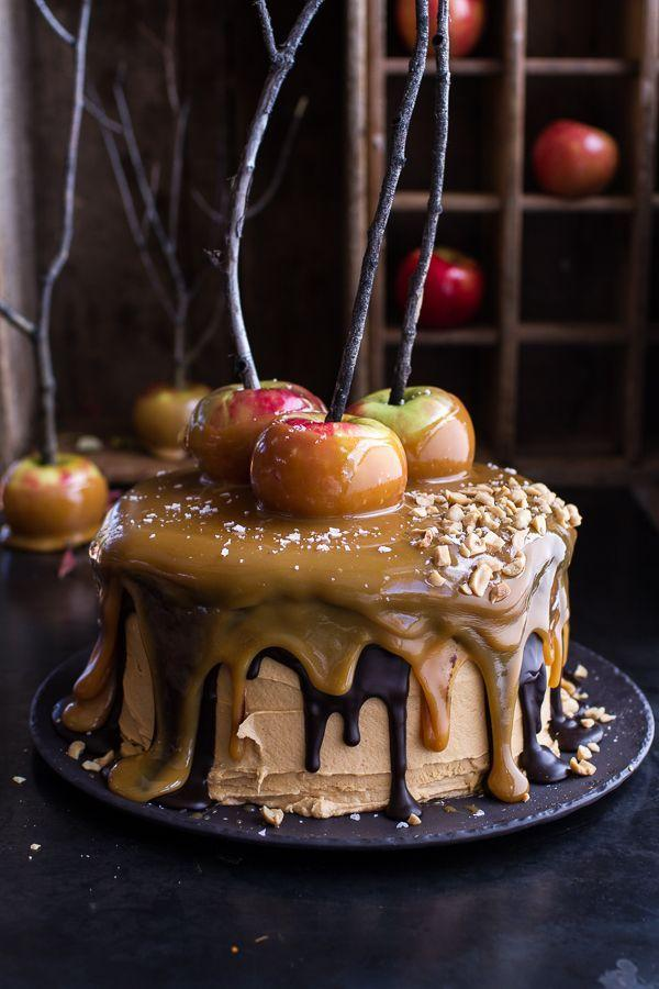 salted caramel apple snickers cake salted caramel apple snickers cake ...
