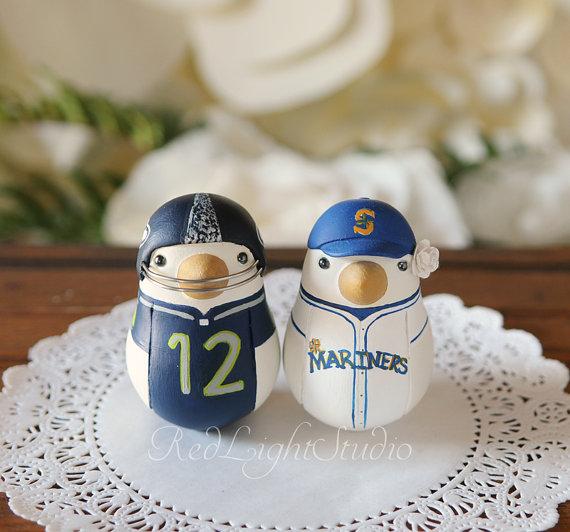 Wedding - Sports Team Wedding Cake Topper - Medium