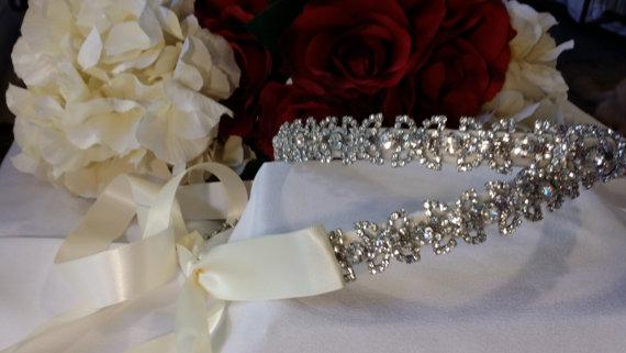 "Свадьба - STEFANA GREEK Crowns Wedding Bridal ""BUTTERFLY-New Beginning"" Sterling Silver Plated Gorgeous Diamond Like Crystals"