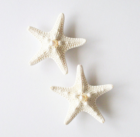 Wedding - Starfish Pearl Barrettes Bridal Starfish Hair Clips Starfish Hair Accessories Beach Wedding Hair Accessories Mermaid Hair Accessories Autumn