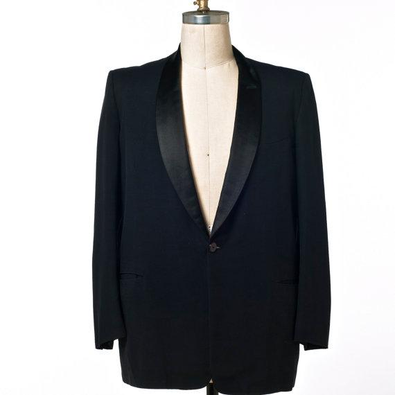 Свадьба - Men's Black Tux Jacket 60's/70's Vintage Mayer Israel's of New Orleans size 42?