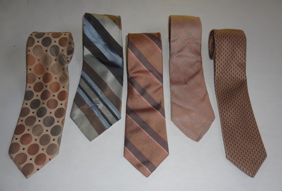 Свадьба - Light Brown Wedding Tie Collection - Mix n Match - Vintage Ties