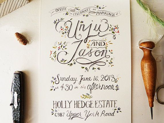 Mariage - The 25 Most Beautifully Illustrated Wedding Invites
