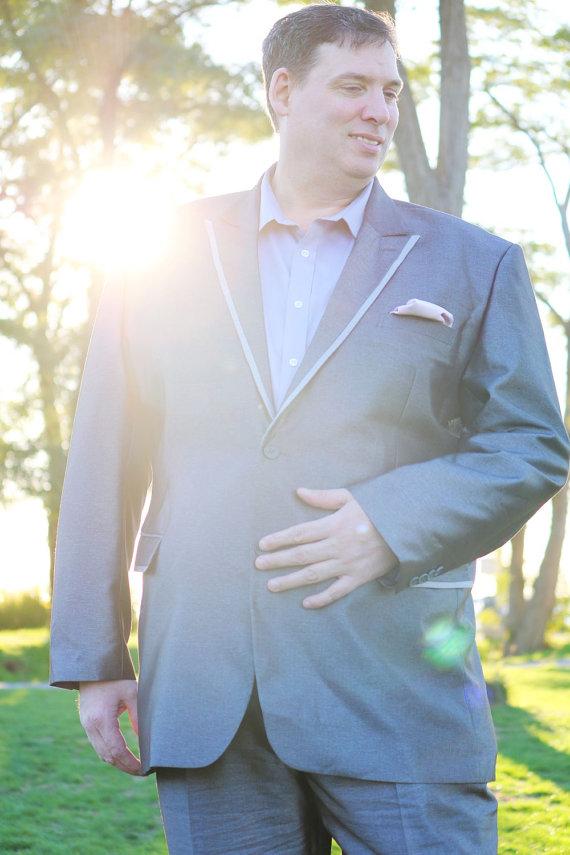 Hochzeit - Custom Seattle Grey casual suit for groom