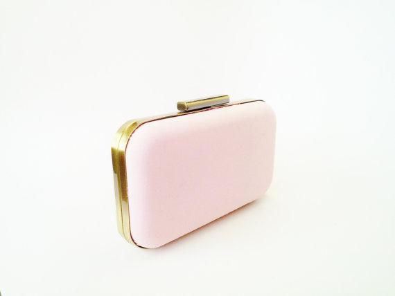 Mariage - blush clutch, bridesmaid gift, blush weddings, bridal accessories, blush bridesmaids clutch, blush bridesmaid gifts, blush bridesmaids, gold