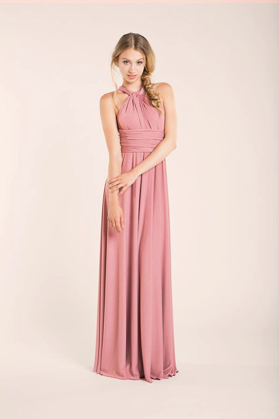 Powder Pink- Rosa Palo- Bridesmaid Long Dress- Bridesmaids Dresses ...
