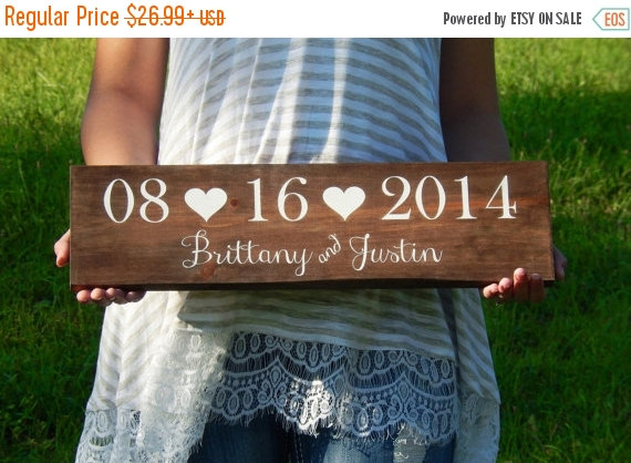 sale extended wedding date sign wooden wedding name sign save