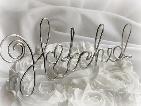 Wedding - Hitched Cake Topper