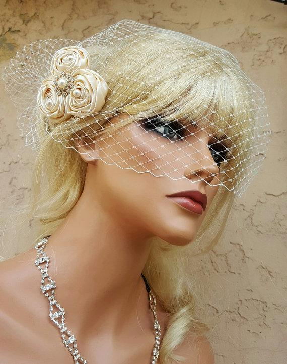 Fascinator, Wedding Hair Clip, Ivory Wedding,Bridal Comb ...