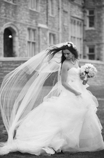 Свадьба - Cathedral length Wedding Bridal Veil 108 inches white, ivory, Wedding veil Long bridal Veil cathedral length veil bridal veil cut edge veil