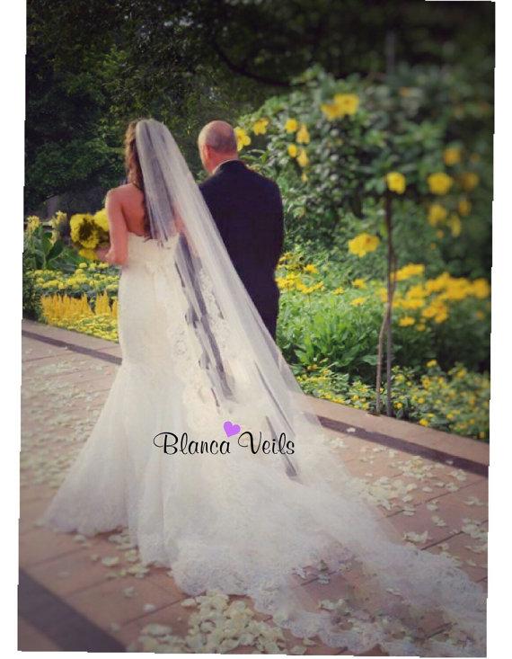 زفاف - Beautiful Lace Wedding Veil