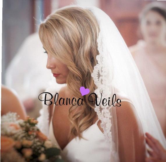 Свадьба - Delicate Lace Wedding Veil
