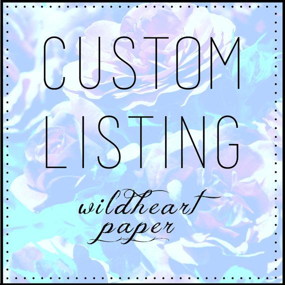 Hochzeit - Custom Listing for Ann