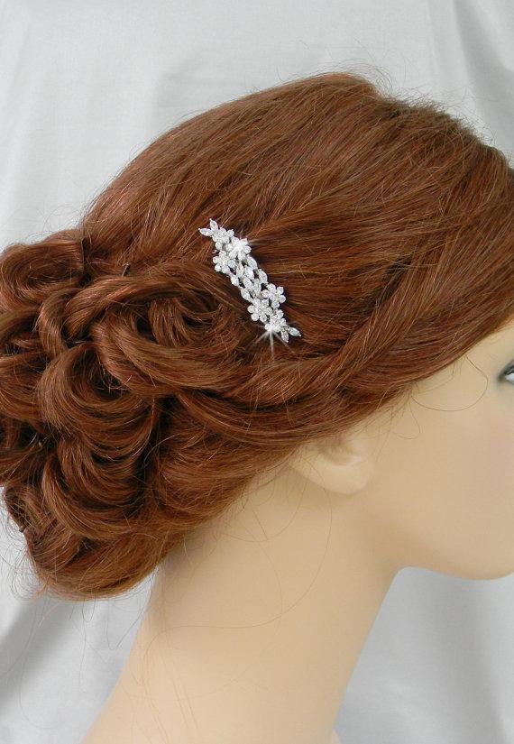 Wedding - Wedding Hair Comb, Bridal hair comb,Crystal , Swarovski crystal comb, Wedding jewelry, Hair clip, Piper Bridal Comb