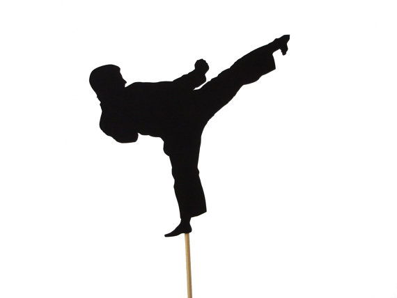 Wedding - Karate Cake Topper, Martial Arts Party Decoration