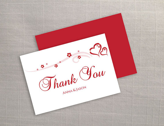 diy printable wedding thank you card template 2373282 weddbook