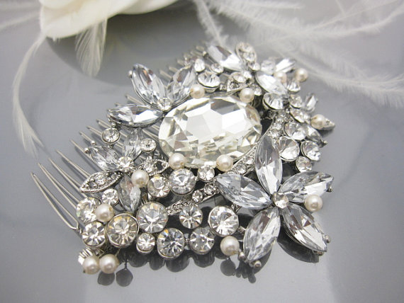 Wedding - bridal comb wedding hair comb bridal hair comb wedding comb bridal hair jewelry wedding headpiece bridal hair piece wedding hair jewelry