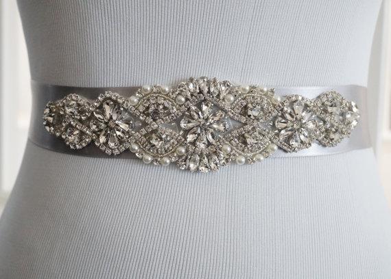 Mariage - Wedding Belt, Bridal Belt, Sash Belt, Crystal Rhinestone Belt, Style 140