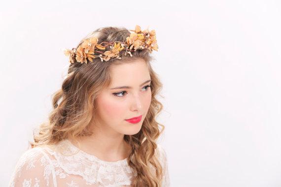 زفاف - rustic flower crown bridal headband, flower crown, headpiece, wedding headband bridal headpiece flower headpiece wedding headpiece