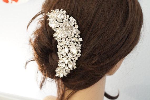 Mariage - Bridal Hair Comb, Crystal Hair Comb, Wedding Hair Accessories, Vintage Inspired Bridal Hair Comb, Bridal Hair Accessories