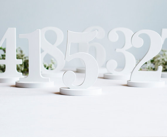 Mariage - Table numbers wedding wooden number any color DIY wood decor