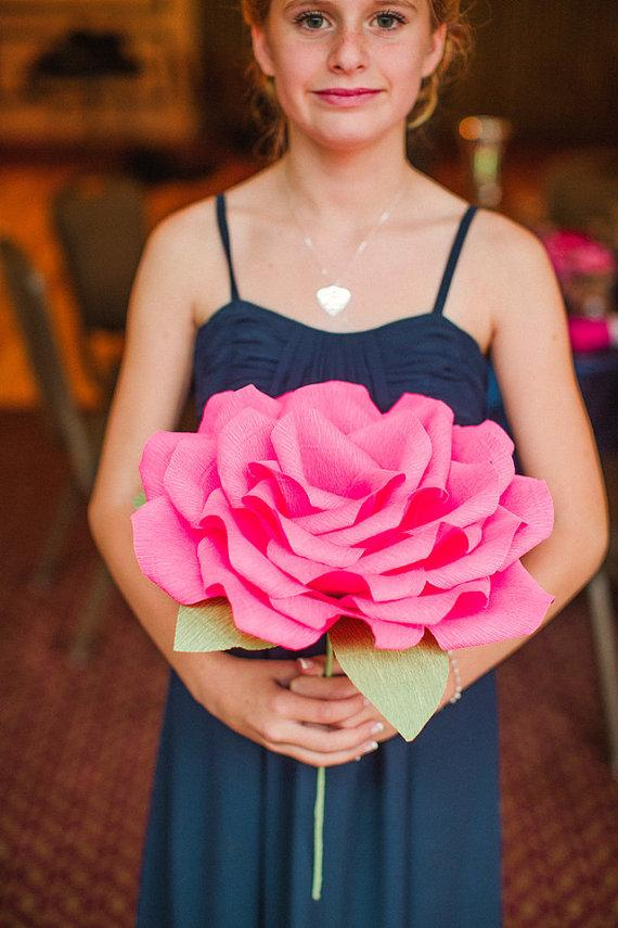 Giant Paper Flower/ Wedding Flowers/ Wedding Bouquets/ Table ...