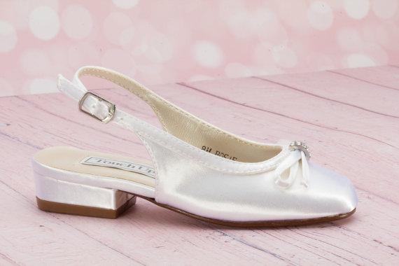 Wedding - Little Girl's Shoe - Children's Wedding Shoe - Flowergirl Shoe - Custom Color Shoe - Choose From Over 200 Colors - Flower Girl Shoe - Shoe