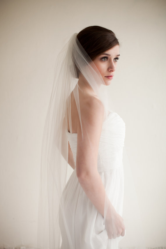 Hochzeit - Ballet Waltz Length Tulle Veil, Bridal Veil, Wedding Veil, 54 inches - Gabriella Style 8513