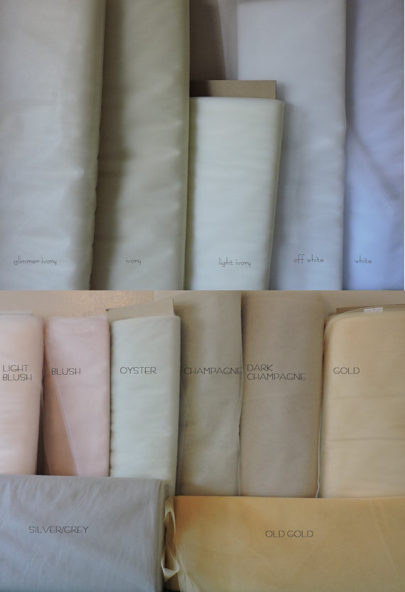 Mariage - Illusion Tulle Samples, Choose colors
