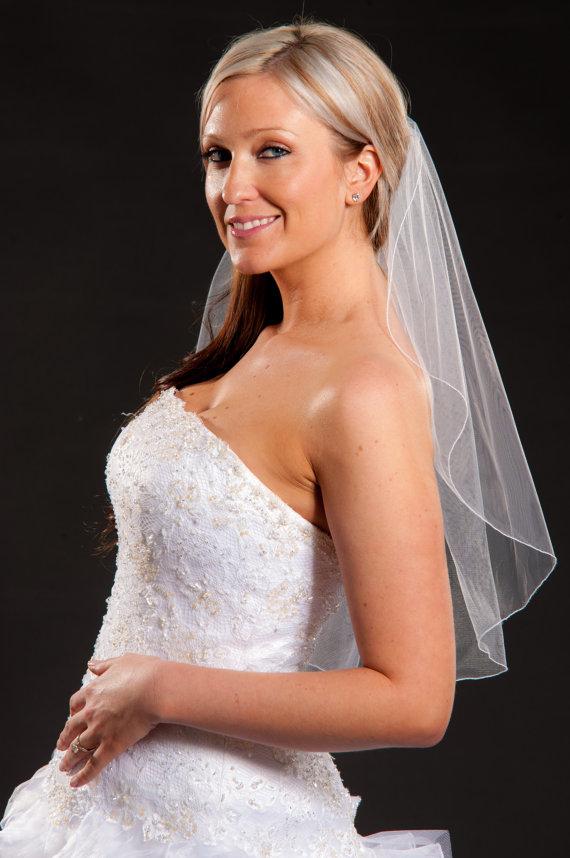 Hochzeit - 1 Layer Elbow Length Veil