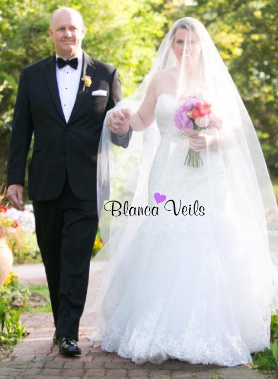 Hochzeit - Gorgeous Drop Wedding Veil