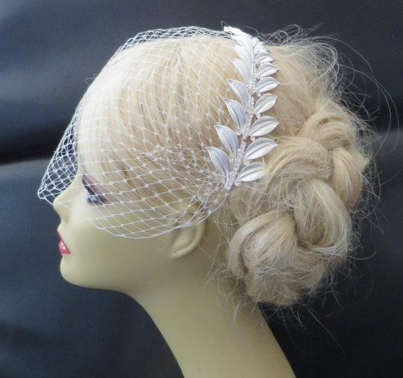 Mariage - Birdcage Veil  and a  Bridal Hair Comb (2 Items),  lives, bridal veil,Headpieces Bridal Comb   Wedding comb bridal veil headpieces