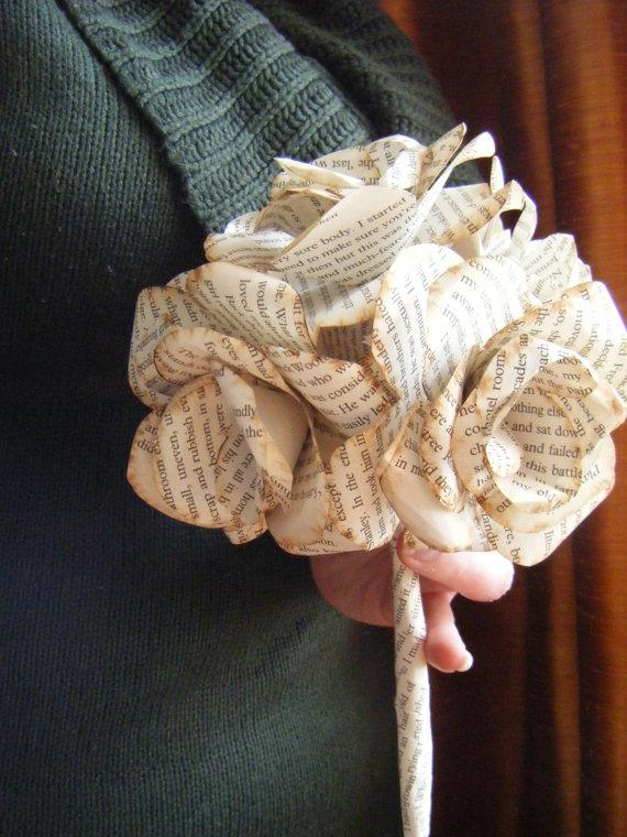 Mariage - Book Paper Bridal Wedding Bouquet bridal bouquet