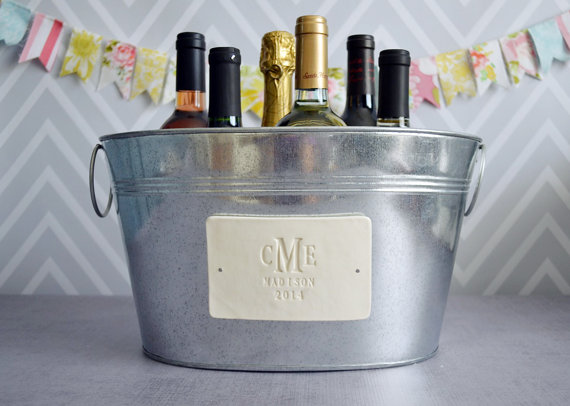 Mariage - Personalized Wedding Gift - Large Beverage Tub