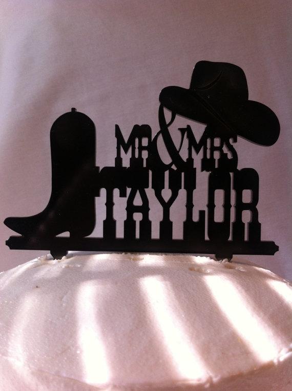 Свадьба - Western Wedding Cake Topper, Boot and Hat Cake Topper, Cowboy Cake Topper, Boot Cake Topper, Groom Cake Topper, Country Cake Topper, Rustic