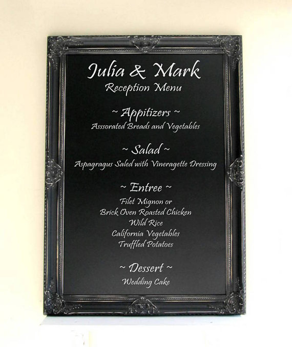 Mariage - Black CHALKBOARD Gothic Wedding LaRGE 30x42 Kitchen Chalkboard Office Organizer Framed Chalkboard Decorative Chalk Board - MORE COLORS