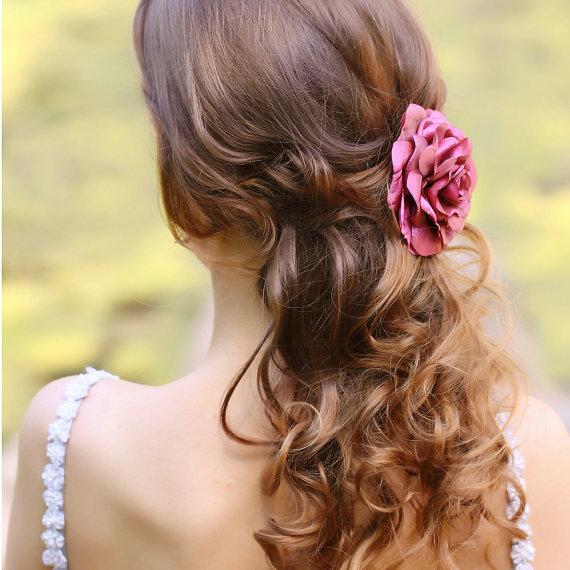 Bridesmaids Hair Clip Rose
