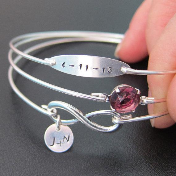 personalized wedding bracelet personalized anniversary jewelry