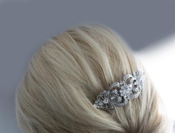 Hochzeit - Bridal Hair Comb, Bridal Hair Accessories, Wedding Hair Comb, Wedding Hair Accessories, Crystal Hair Comb, Art Deco Hair Comb, Wedding Comb
