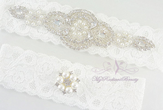 Свадьба - Bridal Garter, Garter Belt, Garter, Wedding Garter, Rhinestone Garter Set, Crystal Applique Garter, Handmade Garter, Beaded Garter GTA0062